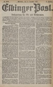 Elbinger Post, Nr. 294, Mittwoch 15 Dezember 1880, 7 Jahrg.