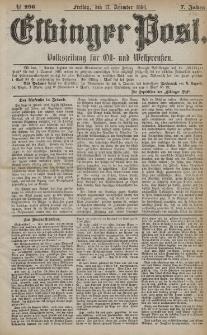 Elbinger Post, Nr. 296, Freitag 17 Dezember 1880, 7 Jahrg.