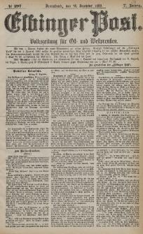 Elbinger Post, Nr. 297, Sonnabend 18 Dezember 1880, 7 Jahrg.