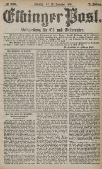 Elbinger Post, Nr. 298, Sonntag 19 Dezember 1880, 7 Jahrg.