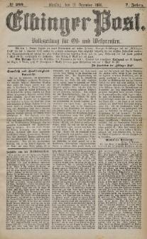 Elbinger Post, Nr. 299, Dienstag 21 Dezember 1880, 7 Jahrg.