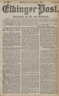 Elbinger Post, Nr. 300, Mittwoch 22 Dezember 1880, 7 Jahrg.