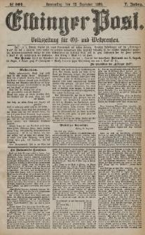 Elbinger Post, Nr. 301, Donnerstag 23 Dezember 1880, 7 Jahrg.