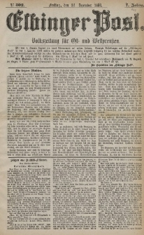 Elbinger Post, Nr. 302, Freitag 24 Dezember 1880, 7 Jahrg.