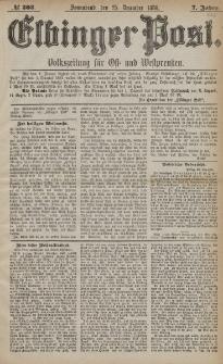 Elbinger Post, Nr. 303, Sonnabend 25 Dezember 1880, 7 Jahrg.