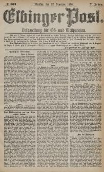 Elbinger Post, Nr. 304, Dienstag 28 Dezember 1880, 7 Jahrg.