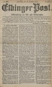 Elbinger Post, Nr. 306, Donnerstag 30 Dezember 1880, 7 Jahrg.