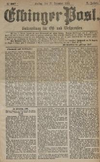 Elbinger Post, Nr. 307, Freitag 31 Dezember 1880, 7 Jahrg.
