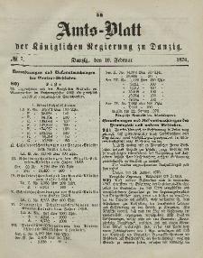 Amts-Blatt der Königlichen Regierung zu Danzig, 16. Februar 1870, Nr. 7