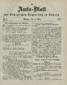 Amts-Blatt der Königlichen Regierung zu Danzig, 2. März 1870, Nr. 9