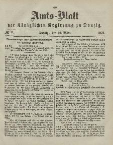 Amts-Blatt der Königlichen Regierung zu Danzig, 16. März 1870, Nr. 11