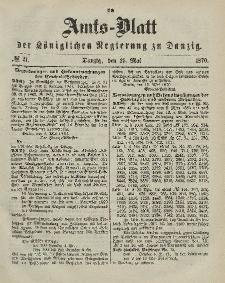 Amts-Blatt der Königlichen Regierung zu Danzig, 25. Mai 1870, Nr. 21