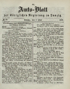 Amts-Blatt der Königlichen Regierung zu Danzig, 8. Juni 1870, Nr. 23