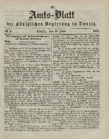 Amts-Blatt der Königlichen Regierung zu Danzig, 22. Juni 1870, Nr. 25