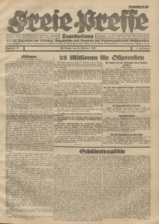 Freie Presse, Nr. 33 Mittwoch 8. Februar 1928 4. Jahrgang