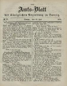Amts-Blatt der Königlichen Regierung zu Danzig, 13. Juli 1870, Nr. 28