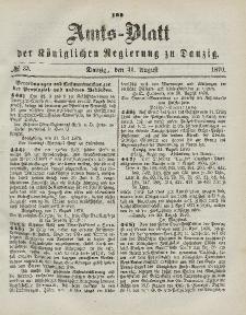 Amts-Blatt der Königlichen Regierung zu Danzig, 31. August 1870, Nr. 35