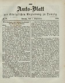 Amts-Blatt der Königlichen Regierung zu Danzig, 7. September 1870, Nr. 36