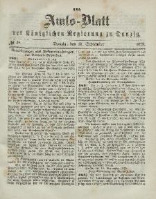 Amts-Blatt der Königlichen Regierung zu Danzig, 14. September 1870, Nr. 37 (dodatek)