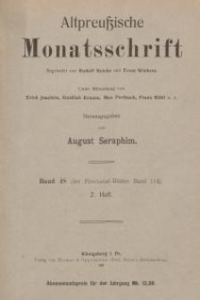 Altpreußische Monatsschrift, 1911, Bd. 48, H. 2