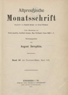 Altpreußische Monatsschrift, 1913, Bd. 50, H. 1