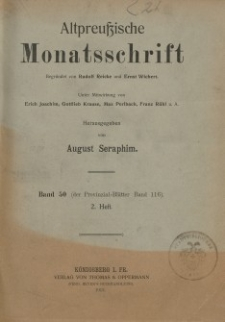 Altpreußische Monatsschrift, 1913, Bd. 50, H. 2