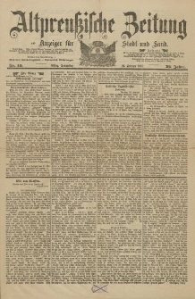 Altpreussische Zeitung, Nr. 46 Donnerstag 24 Februar 1887, 39. Jahrgang