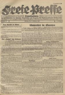 Freie Presse, Nr. 37 Montag 13. Februar 1928 4. Jahrgang
