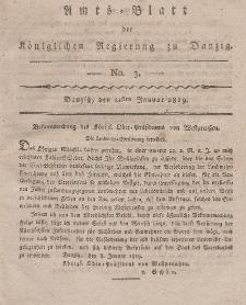 Amts-Blatt der Königlichen Regierung zu Danzig, 21. Januar 1819, Nr. 3