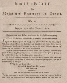 Amts-Blatt der Königlichen Regierung zu Danzig, 28. Januar 1819, Nr. 4