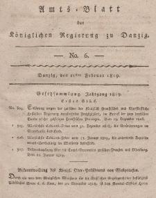 Amts-Blatt der Königlichen Regierung zu Danzig, 11. Februar 1819, Nr. 6