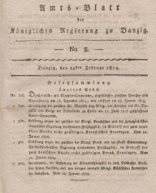 Amts-Blatt der Königlichen Regierung zu Danzig, 25. Februar 1819, Nr. 8