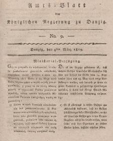 Amts-Blatt der Königlichen Regierung zu Danzig, 4. März 1819, Nr. 9