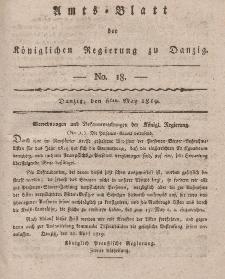 Amts-Blatt der Königlichen Regierung zu Danzig, 6. Mai 1819, Nr. 18