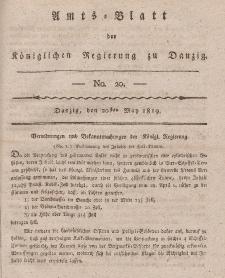 Amts-Blatt der Königlichen Regierung zu Danzig, 20. Mai 1819, Nr. 20