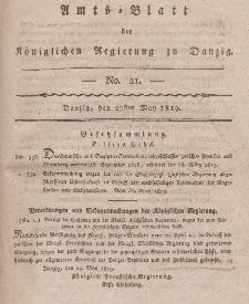 Amts-Blatt der Königlichen Regierung zu Danzig, 27. Mai 1819, Nr. 21