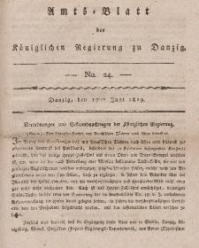 Amts-Blatt der Königlichen Regierung zu Danzig, 17. Juni 1819, Nr. 24