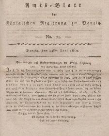 Amts-Blatt der Königlichen Regierung zu Danzig, 24. Juni 1819, Nr. 25