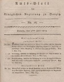 Amts-Blatt der Königlichen Regierung zu Danzig, 1. Juli 1819, Nr. 26