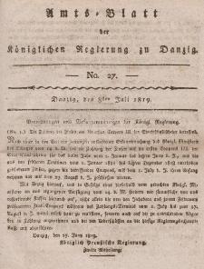Amts-Blatt der Königlichen Regierung zu Danzig, 8. Juli 1819, Nr. 27