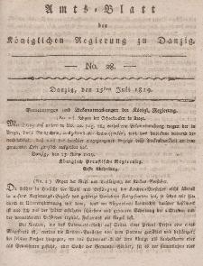 Amts-Blatt der Königlichen Regierung zu Danzig, 15. Juli 1819, Nr. 28
