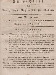 Amts-Blatt der Königlichen Regierung zu Danzig, 22. Juli 1819, Nr. 29