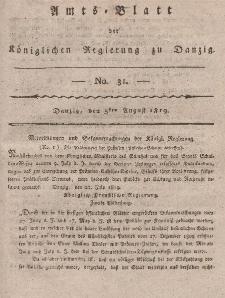 Amts-Blatt der Königlichen Regierung zu Danzig, 5. August 1819, Nr. 31