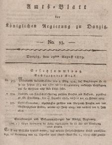 Amts-Blatt der Königlichen Regierung zu Danzig, 19. August 1819, Nr. 33