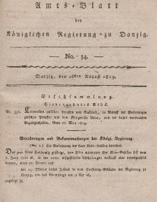 Amts-Blatt der Königlichen Regierung zu Danzig, 26. August 1819, Nr. 34