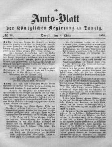 Amts-Blatt der Königlichen Regierung zu Danzig, 4. März 1868, Nr. 10