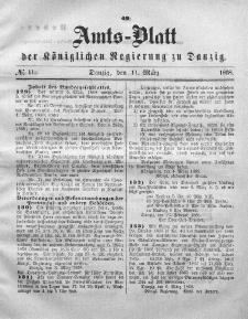 Amts-Blatt der Königlichen Regierung zu Danzig, 11. März 1868, Nr. 11