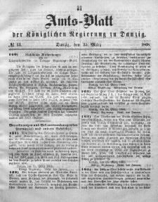 Amts-Blatt der Königlichen Regierung zu Danzig, 25. März 1868, Nr. 13