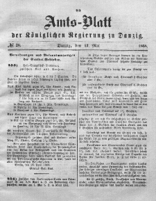 Amts-Blatt der Königlichen Regierung zu Danzig, 13. Mai 1868, Nr. 20