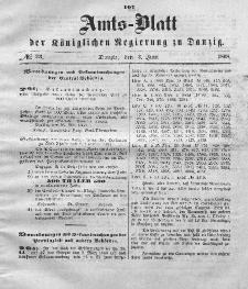 Amts-Blatt der Königlichen Regierung zu Danzig, 3. Juni 1868, Nr. 23